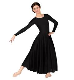 women s worship long sleeve dance dress ballet lyrical