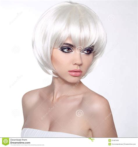 short hairstyles for girls white hair short hairstyles fashion portrait with white short hair haircut hairstyle