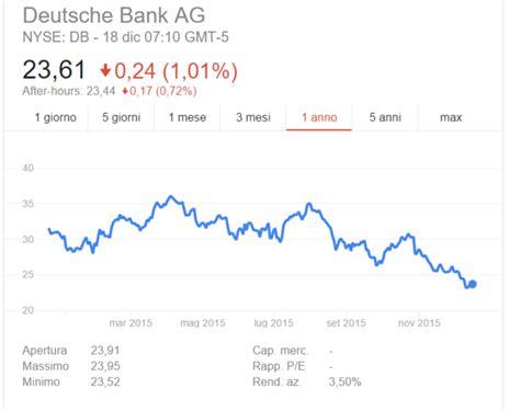 deutsche bank italia azioni deutsche bank conviene comprare il rischio