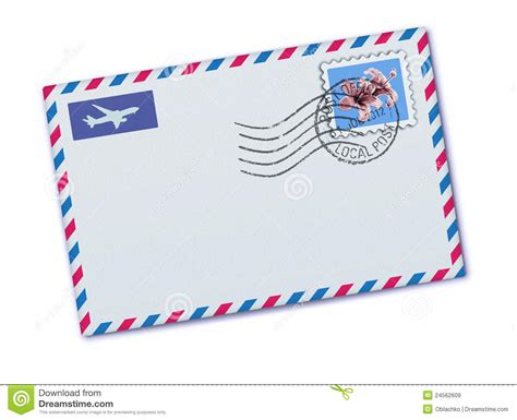 airmail writing paper airmail envelope stock vector illustration of business