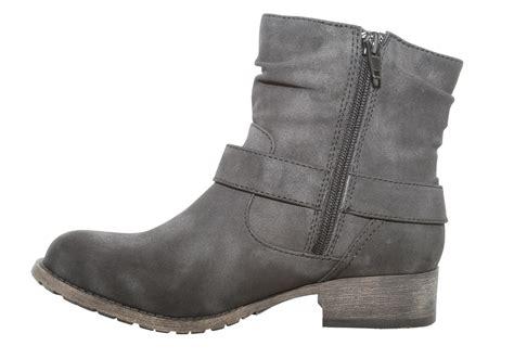 jelly pop boots womens jellypop rosalie side zip boot black