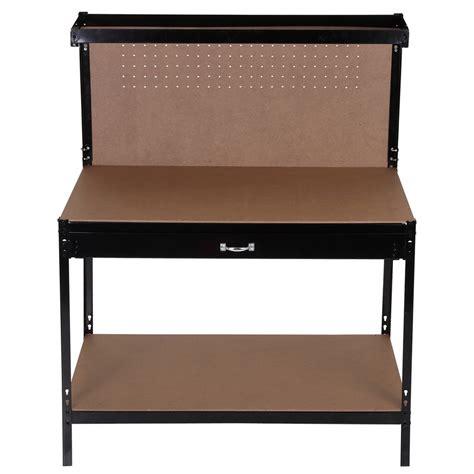 homegear heavy duty metal workbench for garage workshop