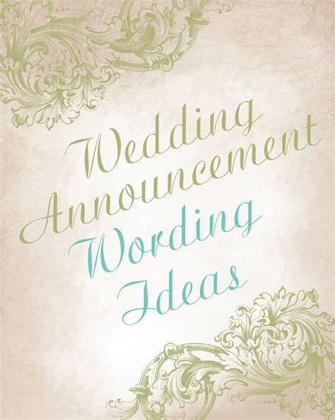 Wedding Announcement Phrases wedding announcement wording ideas invitations by