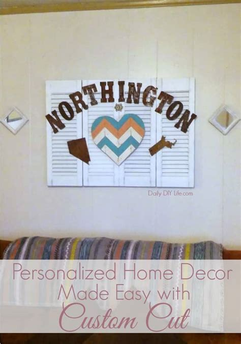 personalized home decor personalized home decor made easy with custom cut rustic
