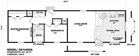 single line floor plan floor plan gs 14482a gs single section homes by cavco