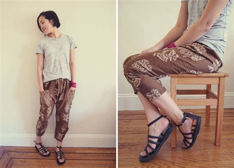 sewing pattern for harem pants japanese sewing pattern harem pants from happy homemade