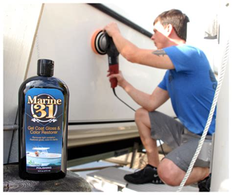 best boat wax for oxidation marine 31 gel coat gloss and color restorer marine