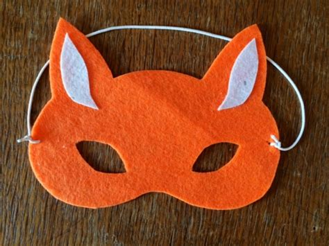 fox mask no sew fox mask felt fox mask felt mask how