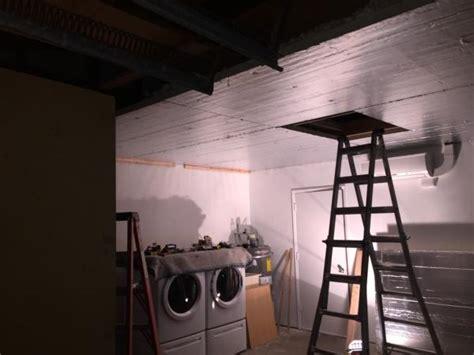 Putting Insulation In Garage by Garage Ceiling And Insulation Rigid Foam Board Install