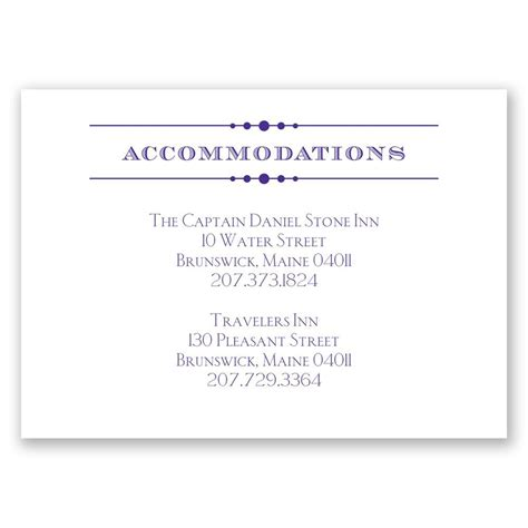 accommodation cards for wedding invitations template vintage type accommodations card invitations by