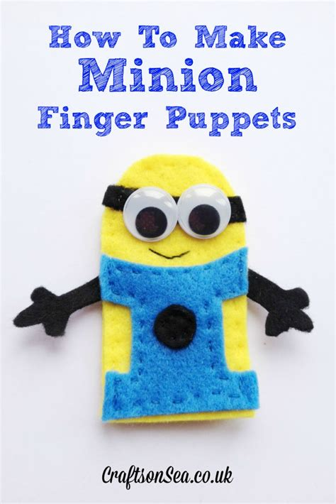 How To Make Puppets Out Of Paper - how to make minion finger puppets crafts on sea