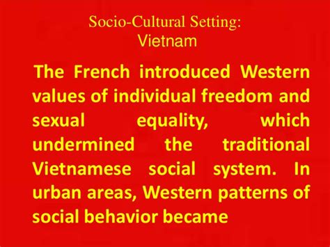 pattern of behavior in french vietnam socio cultural setting