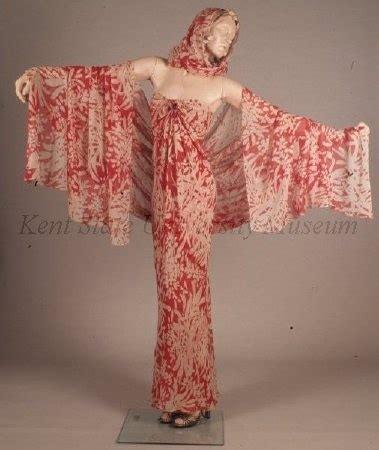 Pashmina Chiffon Motif Kawung frowick roy c 1970s evening dress bias