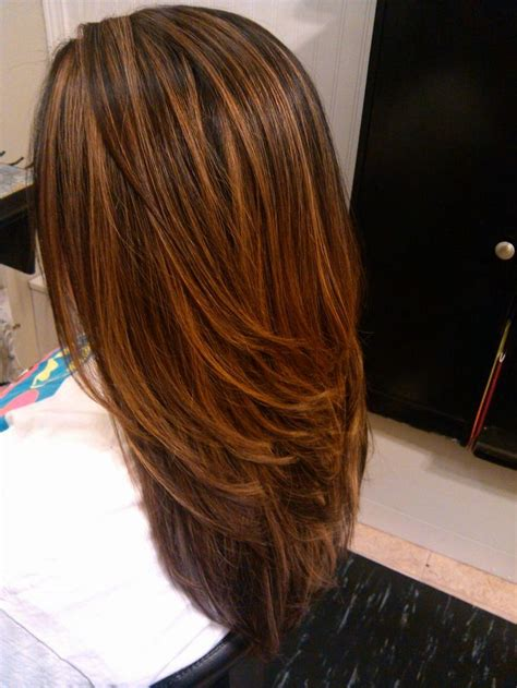 highlow hair color and cut love this color it s a mixture of copper brown and