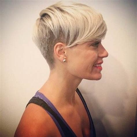 how to style half shaved haircut for women shaved hairstyles for women short haircuts 2016 image