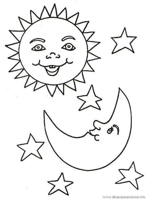 sol luna y estrellas imagui sol luna y estrellas para colorear imagui