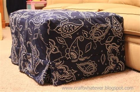 how to make a slipcover for an ottoman ottoman slipcover with box pleat skirt allfreesewing com