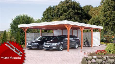carport onlineshop holz carport skanholz 171 spessart 187 flachdach doppelcarport