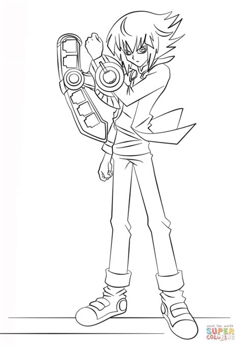 yu gi oh coloring pages coloriage jaden yuki de yu gi oh coloriages 224