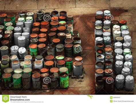 Dump Chemistry Designed By Bonaque by Chemical Waste Dump With A Lot Of Barrels Stock Photos