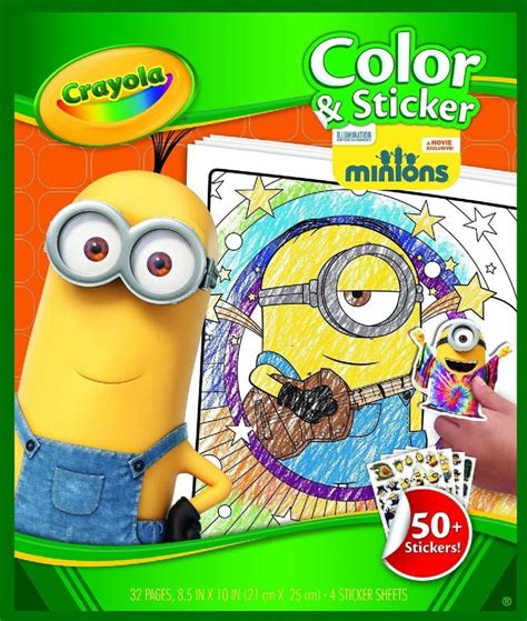 crayola giant coloring pages minions despicable me minions crayola color sticker book