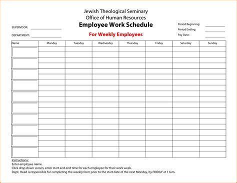 printable employee schedule maker 7 employee schedule maker authorization letter