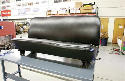 rebuilding back to back boat seats rebuilding a stock bench seat part 1 hot rod network