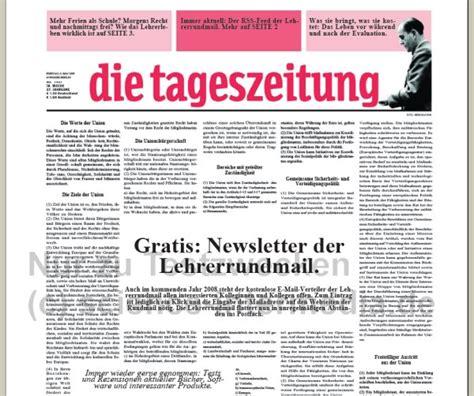 Vorlage Word Zeitung Die Zeitungswerkstatt Lehrerrundmail