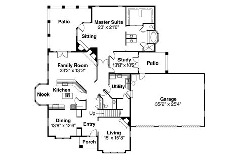 tudor floor plans tudor house plans numberedtype