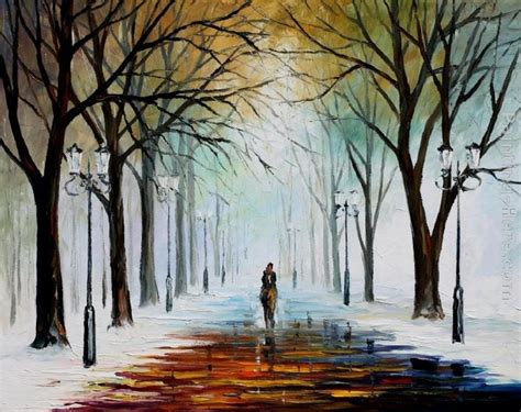 leonid afremov winter mood painting best paintings for sale
