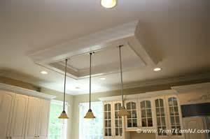 Coffered ceilings and beams traditional kitchen by trim team nj