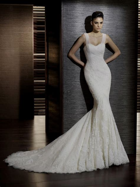 trumpet wedding dresses with straps naf dresses