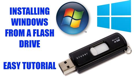 tutorial install windows 7 usb how to install windows from a flash drive windows 7 8