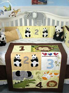complete nursery bedding sets soho 1234 jungle friends baby crib complete nursery bedding set ebay