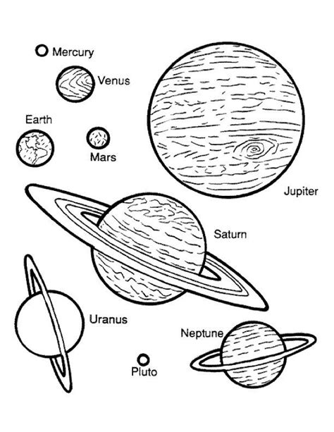 printable pictures planets planets coloring page spacy pinterest planets color