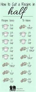 Cooking Measurements In Half Printable Guide To Split Any Recipe In Half He She Eat