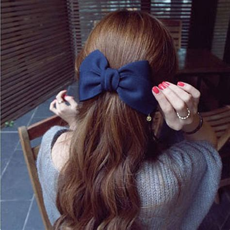 Parfum Korean Hair Clip 2016 korean style hair ornaments flower hair clip fashion hairpins gig bow hair clip for