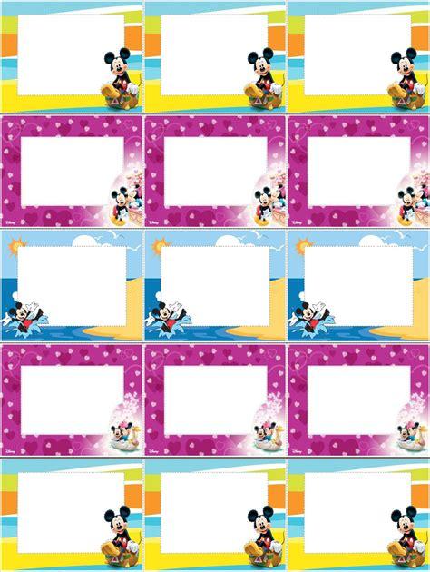 imagenes para etiquetas escolares juveniles etiquetas de mickey mouse imagui