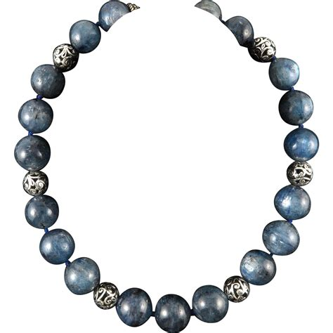 Large Kyanite Bead Necklace 18mm 20mm 20 Quot From