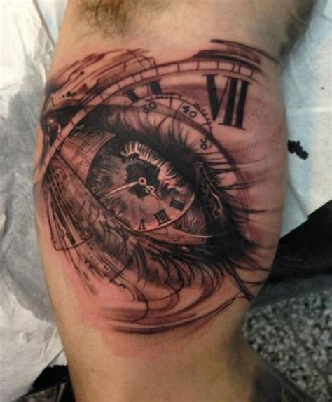 tattoo eye and clock arm clock eye tattoo by putka tattoos