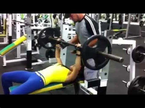 bench press 135 bench press 135 lbs by 125 lbs women youtube