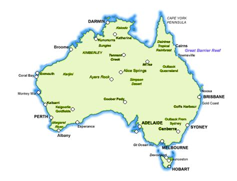 map of australia and cities map of australia with cities and towns