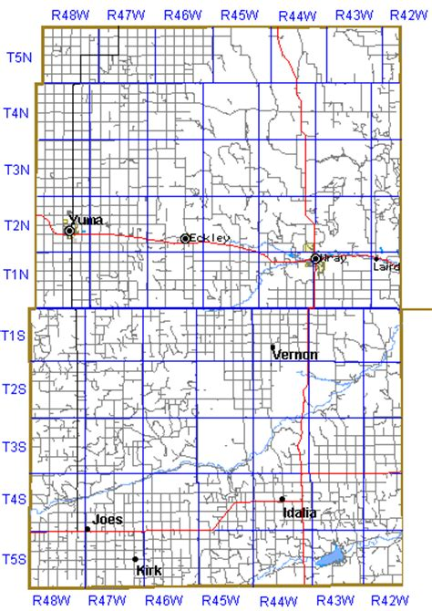 Yuma County Records Township And Range Map Of Nebraska
