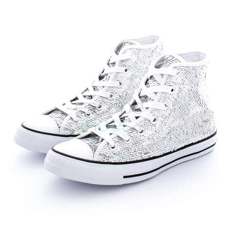 silver converse sneakers sneakers converse chuck all 553440c hi silver