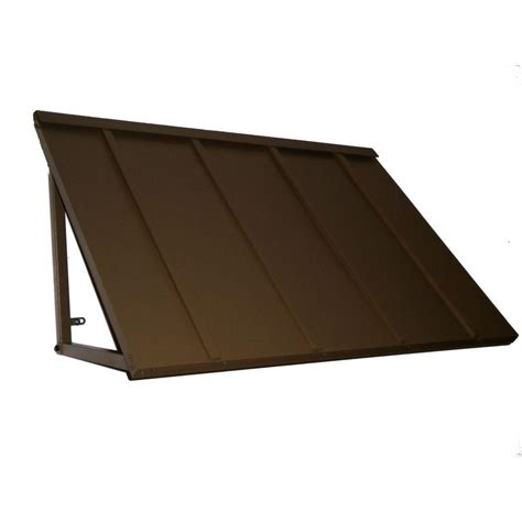 standing seam metal awning awntech 4 ft houstonian metal standing seam awning 24 in