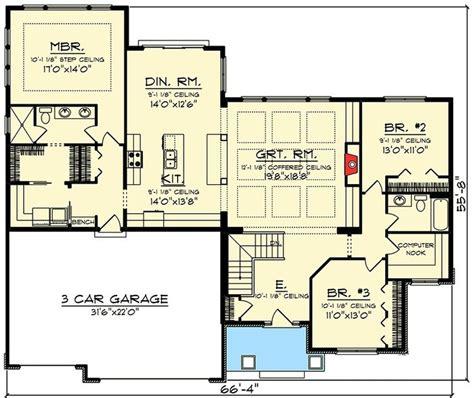 craftsman ranch floor plans best 25 craftsman ranch ideas on ranch floor