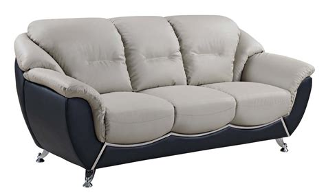 rv leather sofa global furniture usa 6018 sofa set gray black bonded