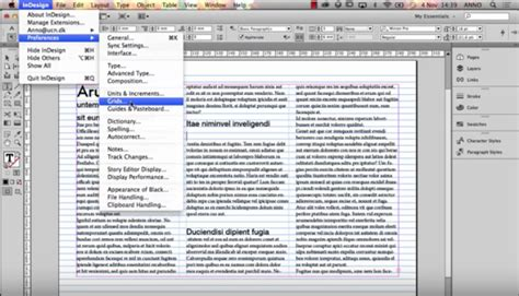creating indesign grids indesign columns and baseline grid the grid system