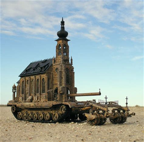 Church Is A Tank by Mysteries Kris Kuksi In The Macabre