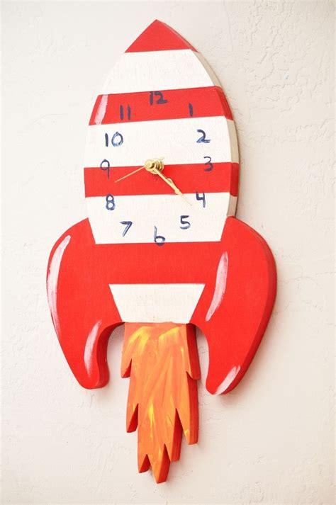 Handmade Childrens Wall Clock by 50Splinters Woodworks